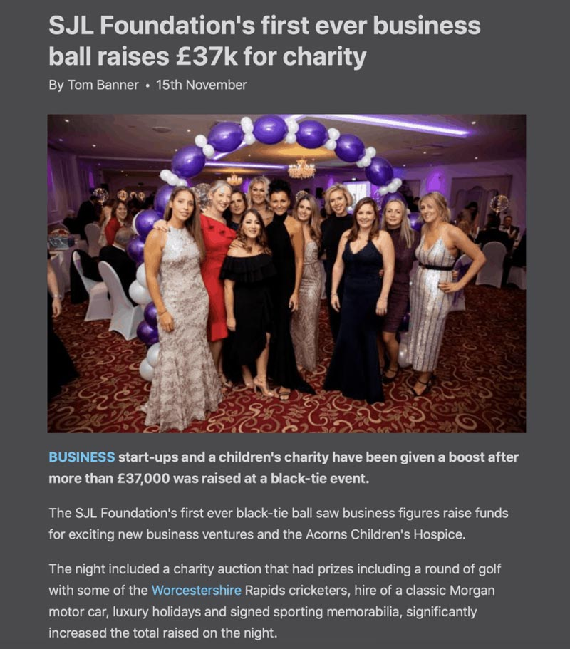 Worcester-News-SJL-Foundations-first-ever-business-ball-raises-37k-for-charity