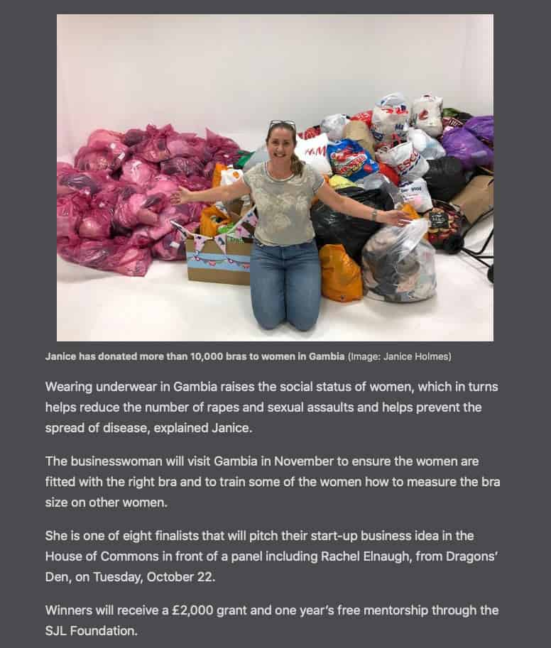 Businesswoman-SJL-Foundation-Finalist-Janice-donates-bras-to-africa-Newark-SJL-Foundation