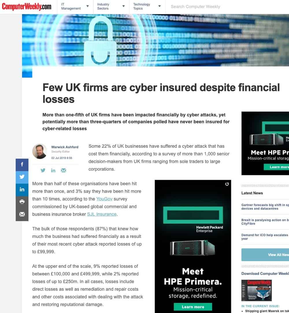Cyber-Insurance-financial-attacks-computer-weekly-SJL-Insurance