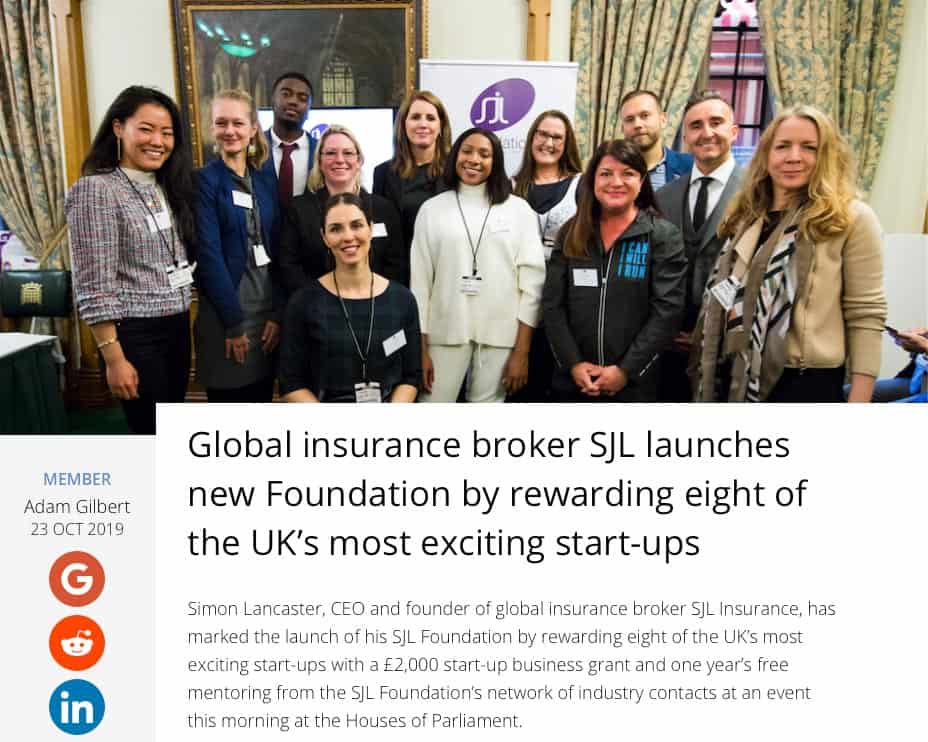 Global-insurance-broker-launches-new-Foundation-SJL-Insurance