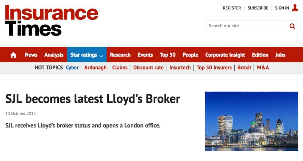 Lloyds-of-London-Broker-SJL-Insurance-Insurance-Times