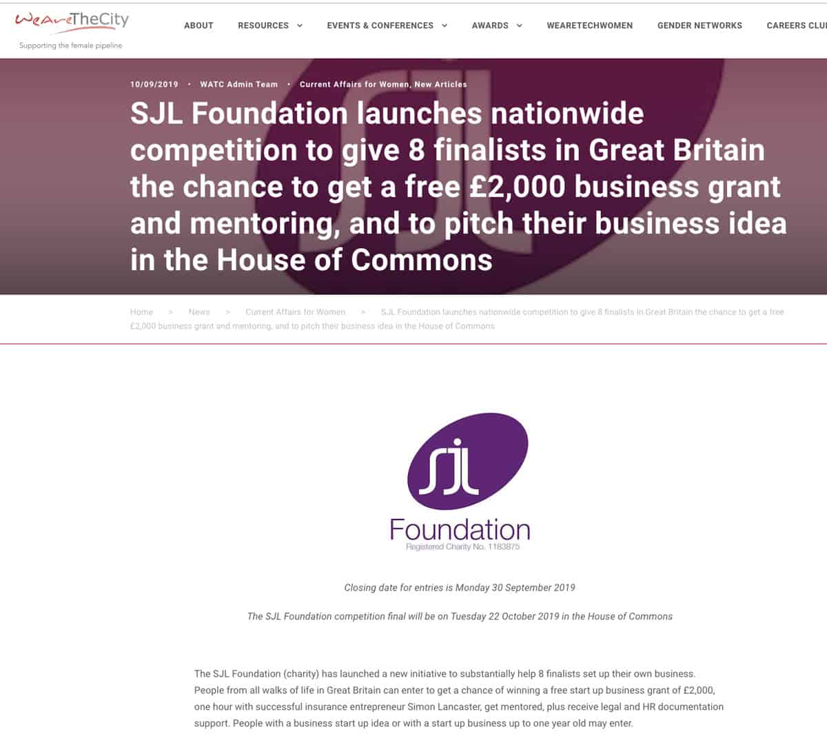 Nationwide-Competition-business-grants-mentoring-Great-Britain-SJL-Foundation
