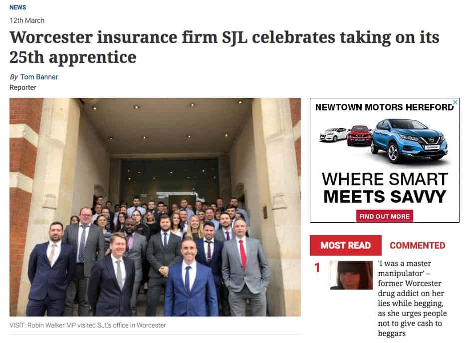 Professional-Appreticeships-SJL-Insurance-Worcester-News