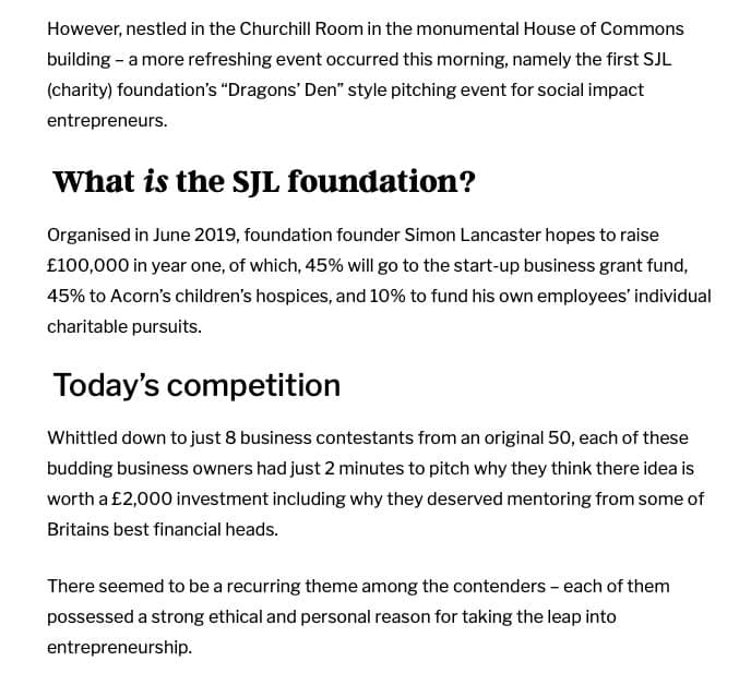 Start-up-business-grant-funding-pitching-competition-SJL-Foundation