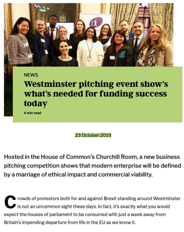 Westminister-pitching-event-Start-up-business-grant-funding-competition-SJL-Foundation