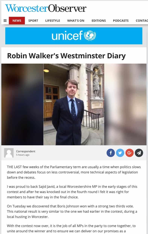 Worcester-Observer-Unicef-Robin-Walkers-Westminster-Diary-SJL-Insurance