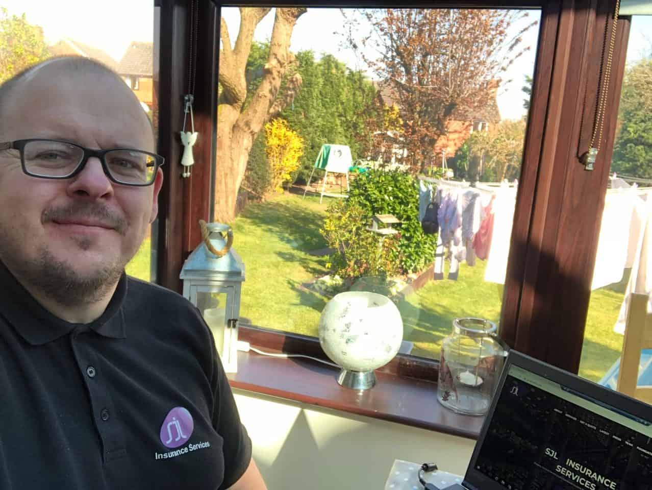 Karl Evans working from home insurance