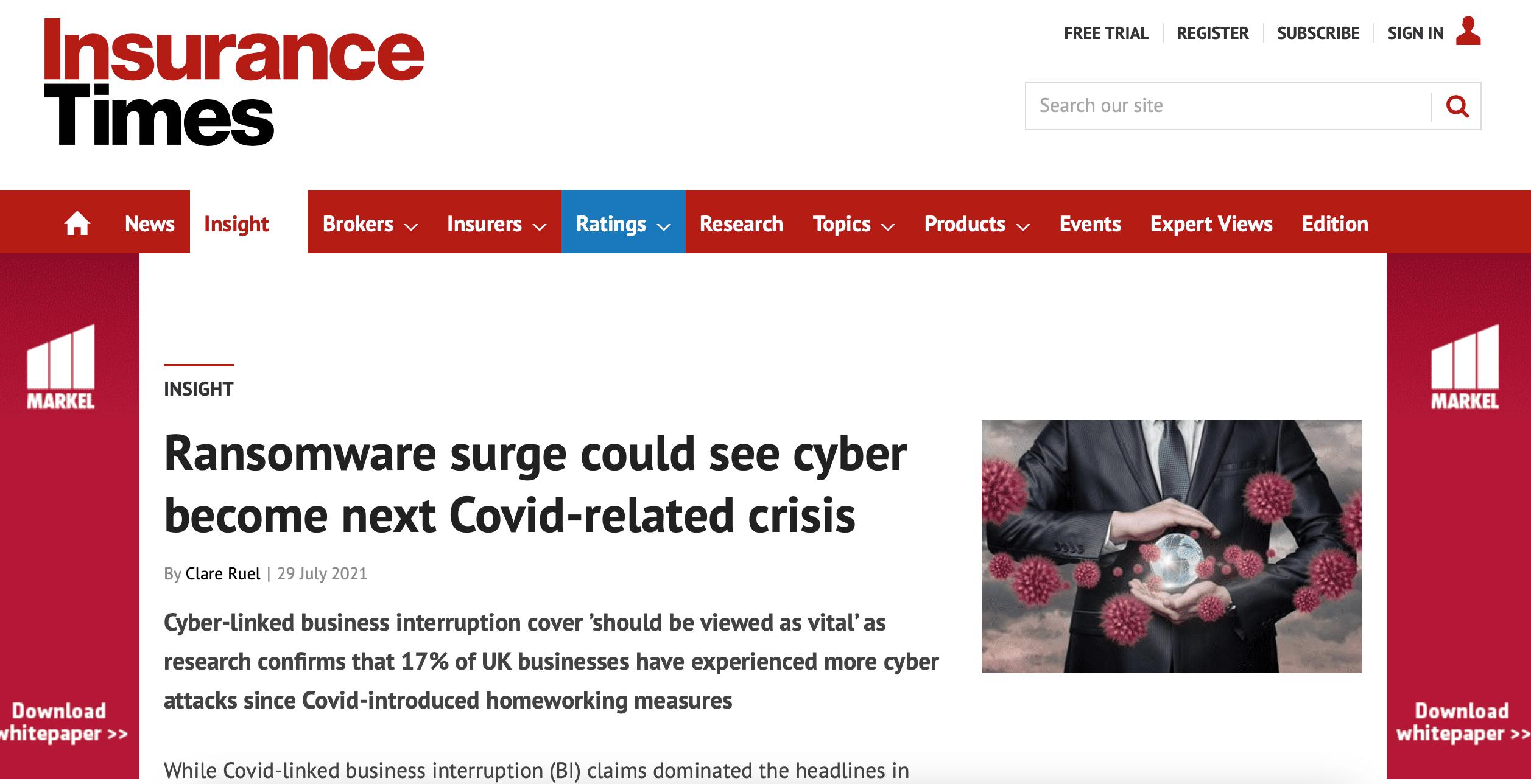 Ransomeware surge